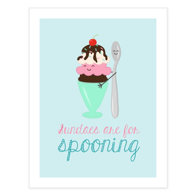Sundaes are for Spooning Home Fine Art Print by CardyHarHar's Artist Shop