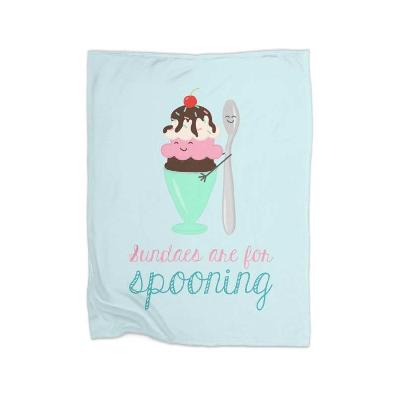 Sundaes are for Spooning Home Blanket by CardyHarHar's Artist Shop