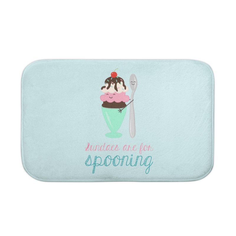 Sundaes are for Spooning Home Bath Mat by CardyHarHar's Artist Shop
