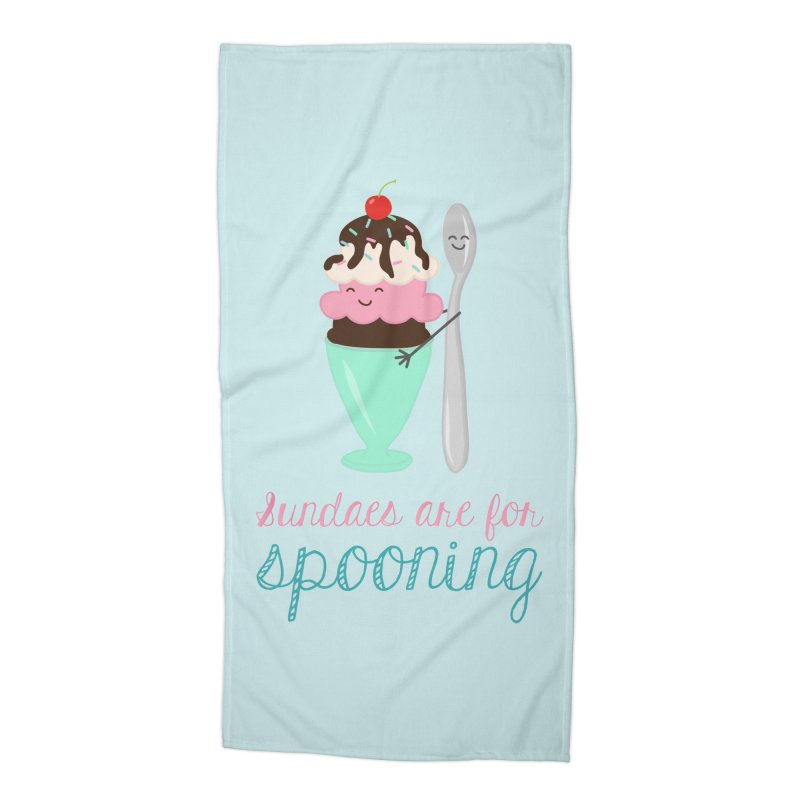 Sundaes are for Spooning Accessories Beach Towel by CardyHarHar's Artist Shop