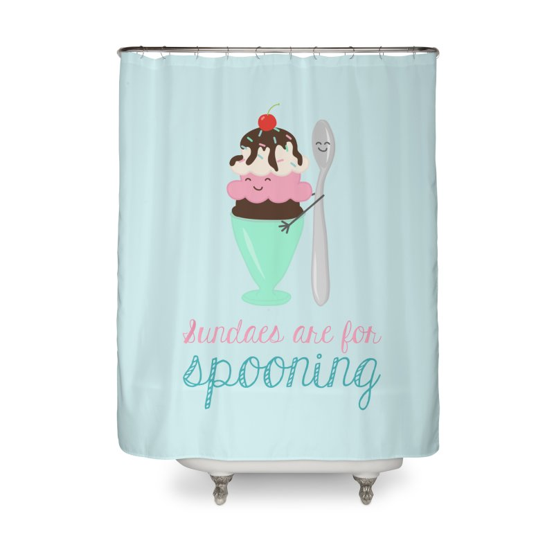 Sundaes are for Spooning Home Shower Curtain by CardyHarHar's Artist Shop