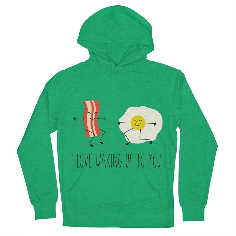 I Love Waking Up To You Men's French Terry Pullover Hoody by CardyHarHar's Artist Shop