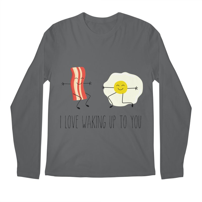 I Love Waking Up To You Men's Longsleeve T-Shirt by CardyHarHar's Artist Shop