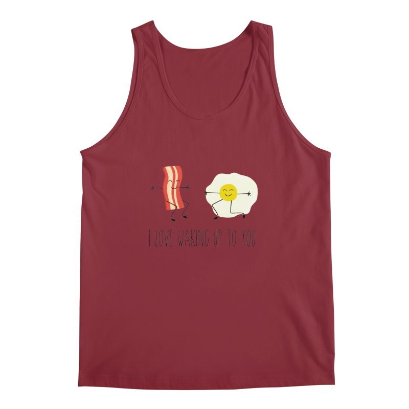 I Love Waking Up To You Men's Tank by CardyHarHar's Artist Shop