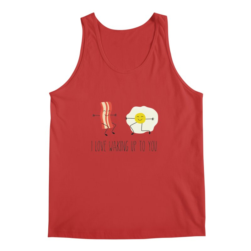I Love Waking Up To You Men's Regular Tank by CardyHarHar's Artist Shop