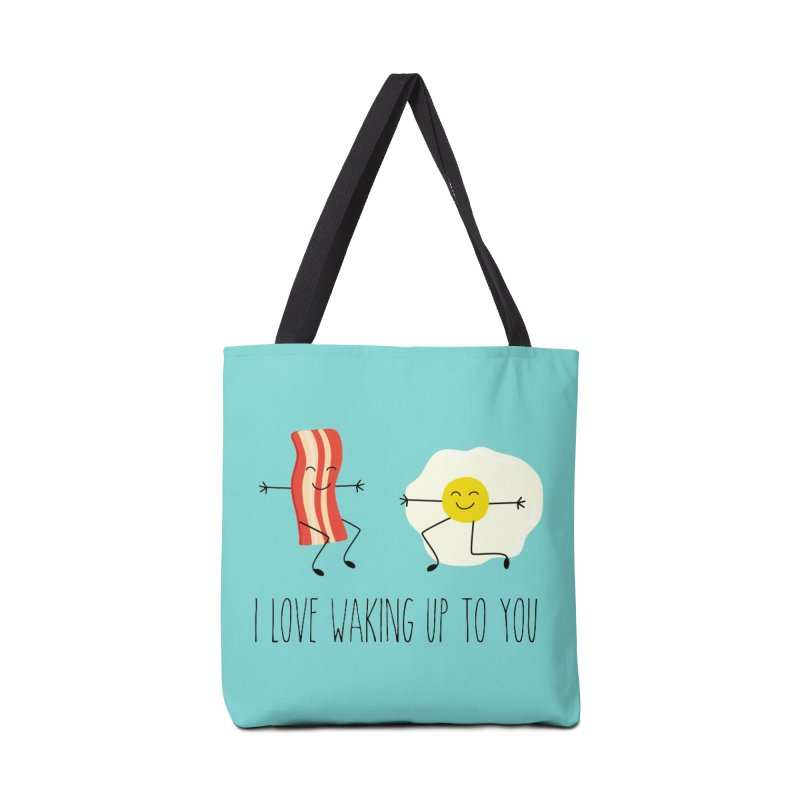 I Love Waking Up To You Accessories Tote Bag Bag by CardyHarHar's Artist Shop