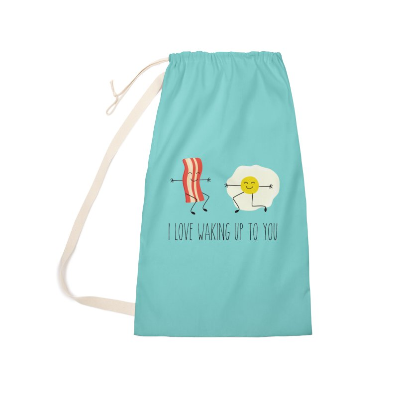 I Love Waking Up To You Accessories Bag by CardyHarHar's Artist Shop