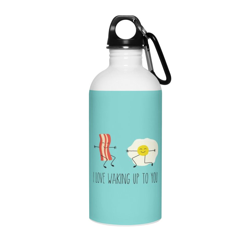 I Love Waking Up To You Accessories Water Bottle by CardyHarHar's Artist Shop