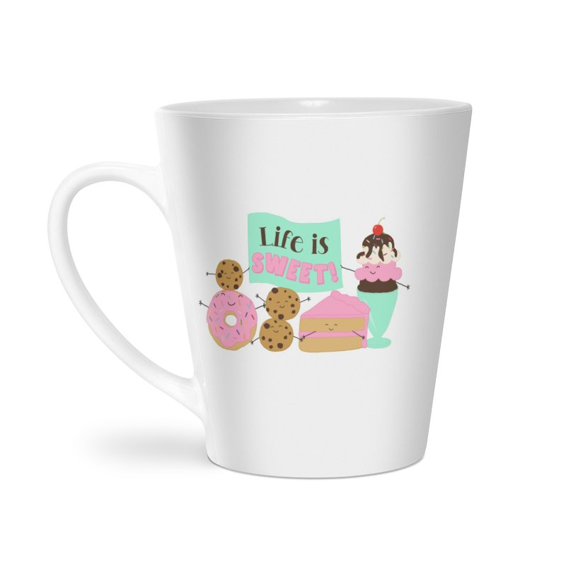 Life is Sweet Accessories Latte Mug by CardyHarHar's Artist Shop
