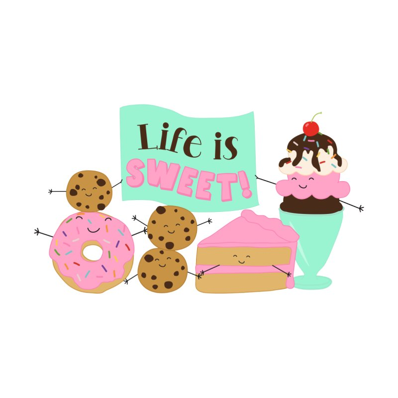 Life is Sweet Accessories Zip Pouch by CardyHarHar's Artist Shop