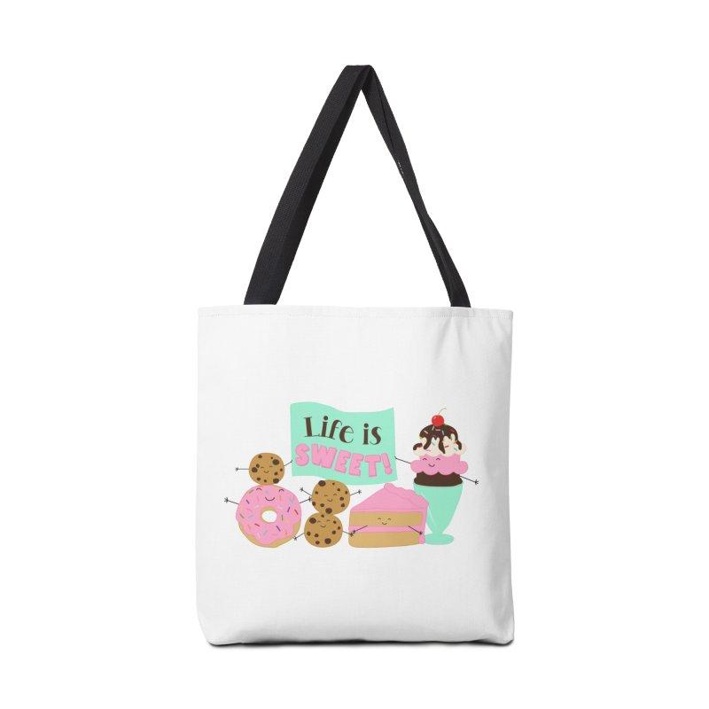 Life is Sweet Accessories Bag by CardyHarHar's Artist Shop