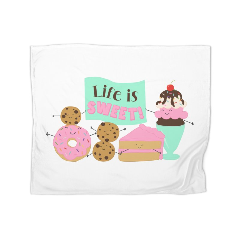 Life is Sweet Home Fleece Blanket Blanket by CardyHarHar's Artist Shop