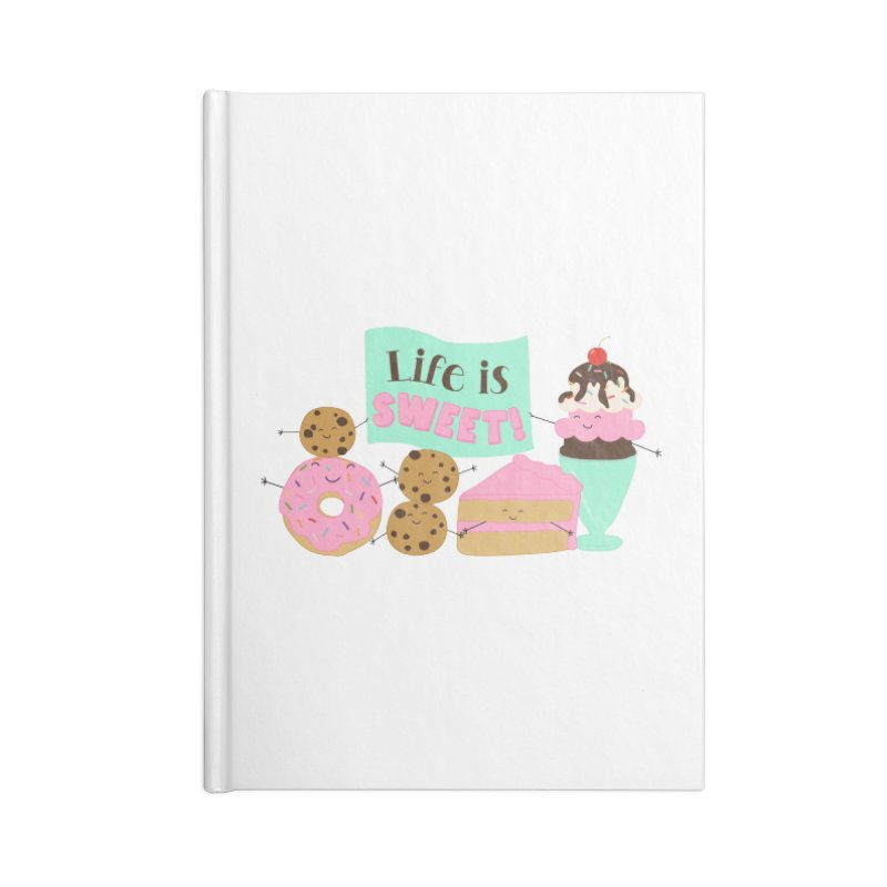 Life is Sweet Accessories Notebook by CardyHarHar's Artist Shop
