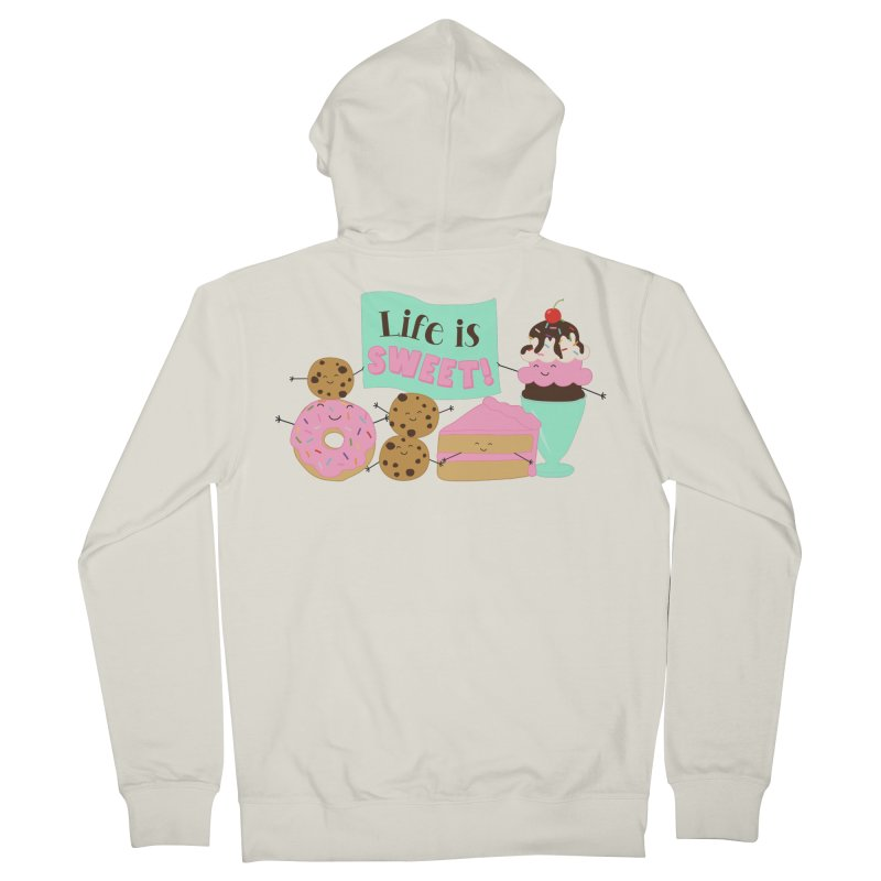 Life is Sweet Men's Zip-Up Hoody by CardyHarHar's Artist Shop