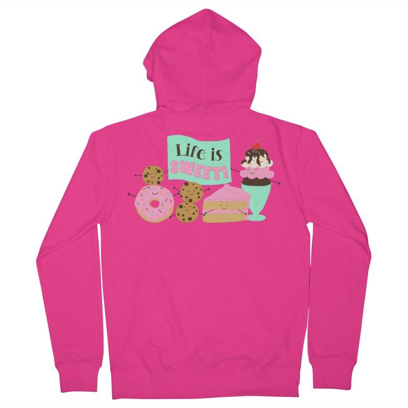 Life is Sweet Men's Zip-Up Hoody by CardyHarHar's Artist Shop