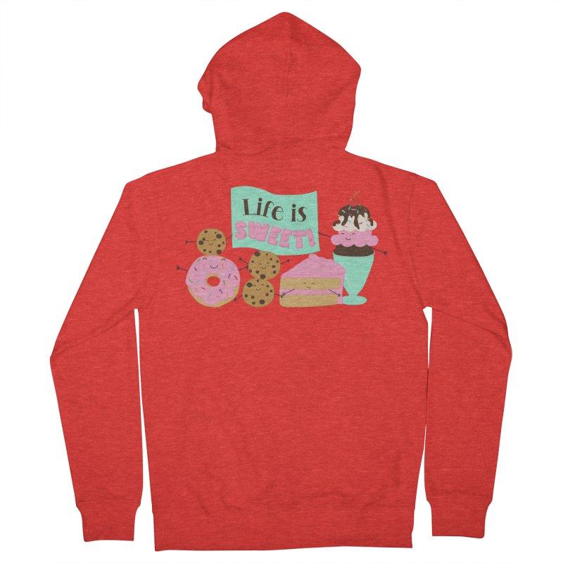 Life is Sweet Women's Zip-Up Hoody by CardyHarHar's Artist Shop