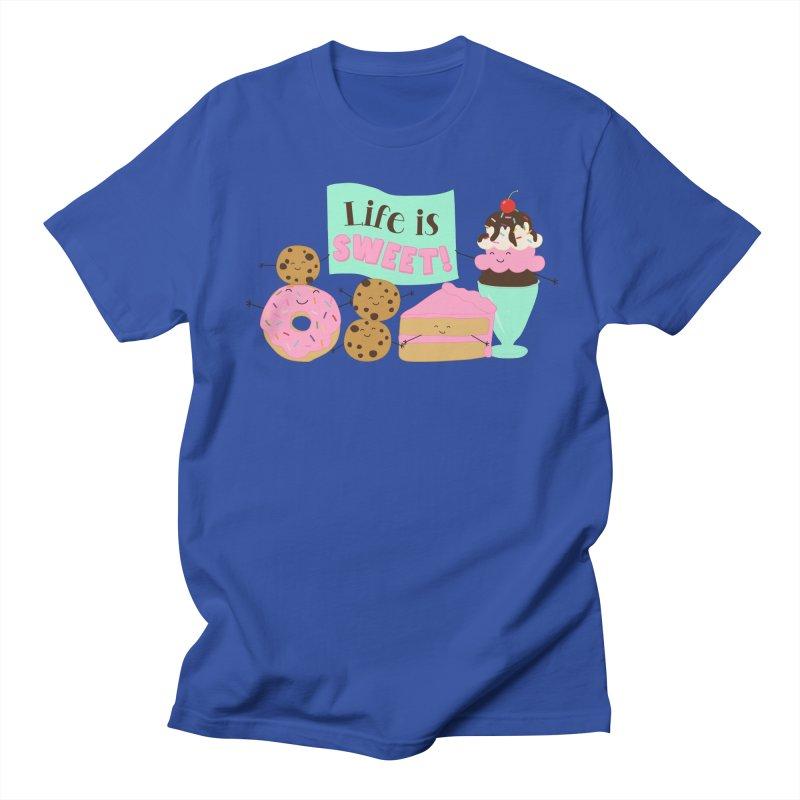 Life is Sweet Men's Regular T-Shirt by CardyHarHar's Artist Shop
