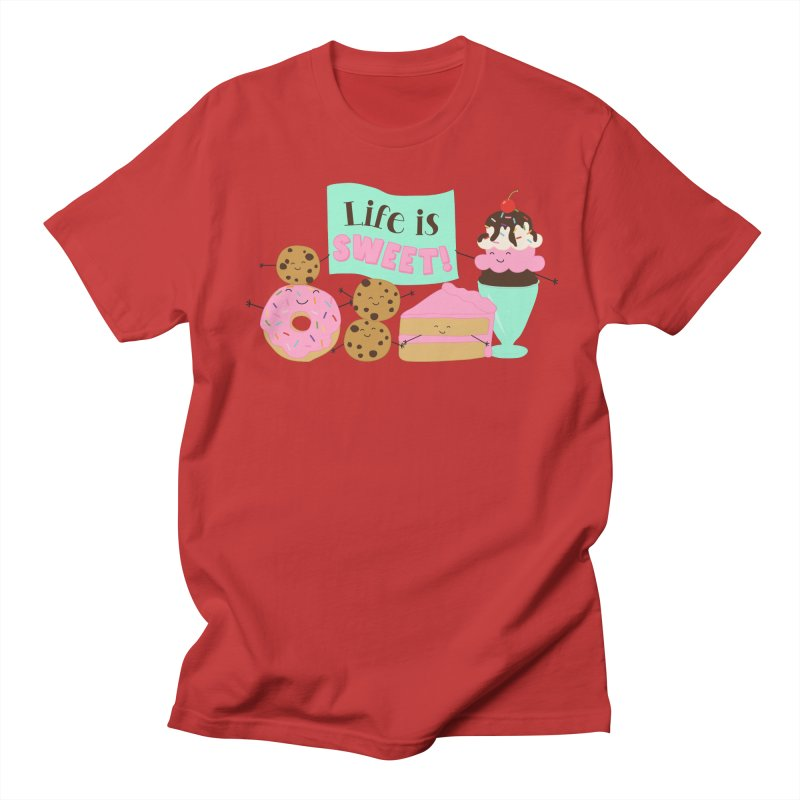 Life is Sweet Men's T-Shirt by CardyHarHar's Artist Shop