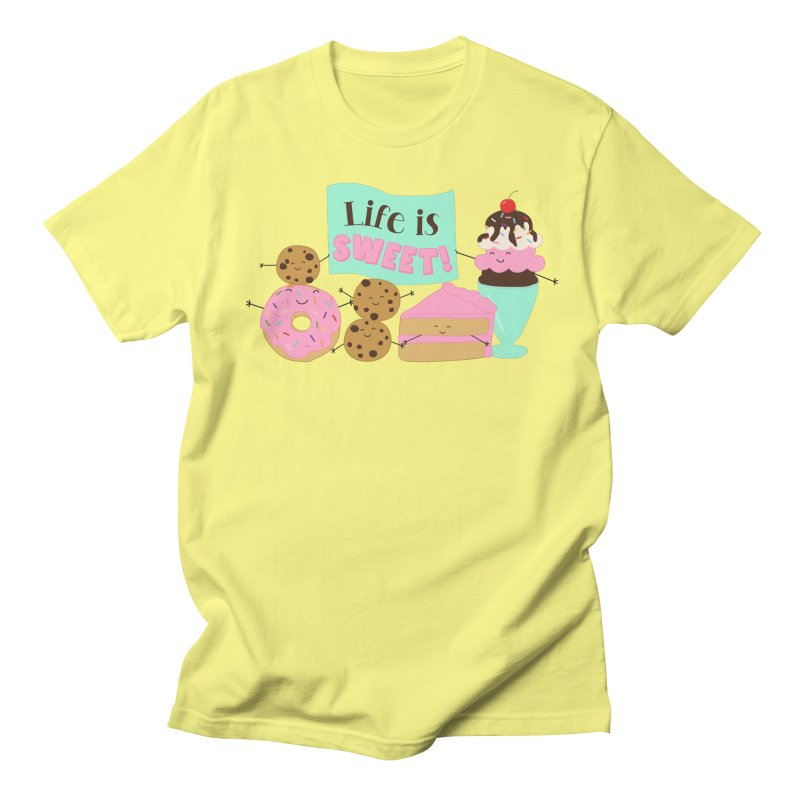 Life is Sweet Men's T-Shirt by CardyHarHar's Artist Shop