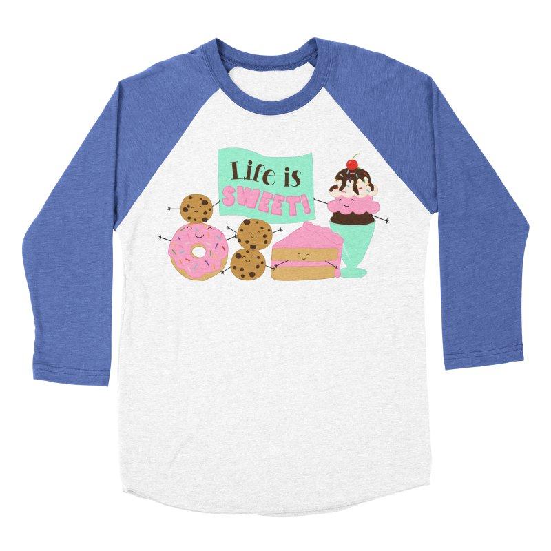 Life is Sweet Women's Baseball Triblend Longsleeve T-Shirt by CardyHarHar's Artist Shop