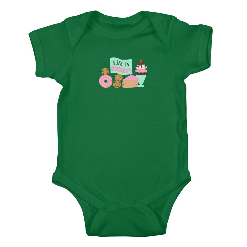 Life is Sweet Kids Baby Bodysuit by CardyHarHar's Artist Shop