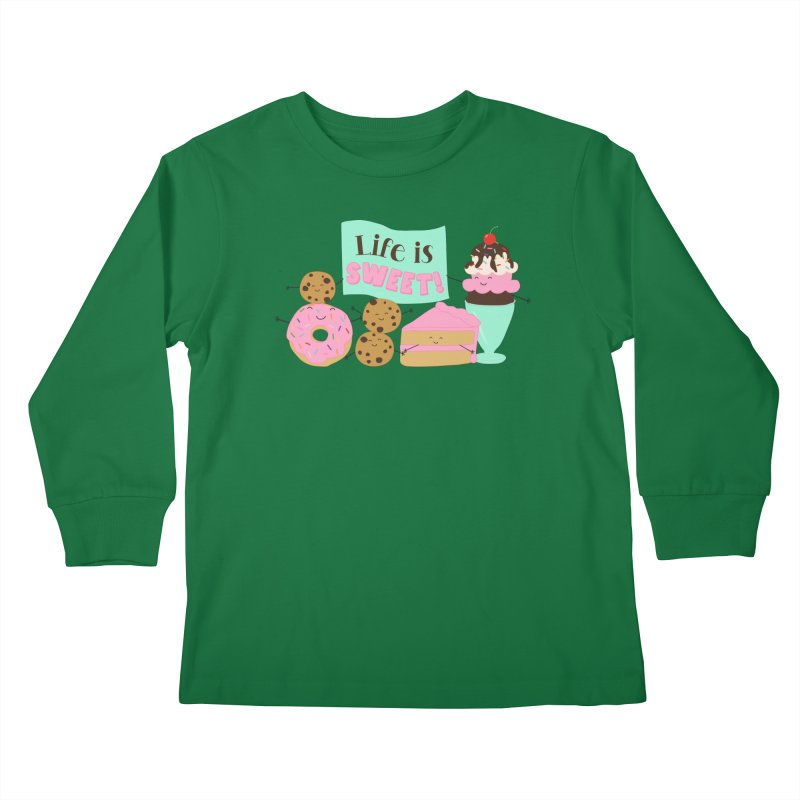 Life is Sweet Kids Longsleeve T-Shirt by CardyHarHar's Artist Shop