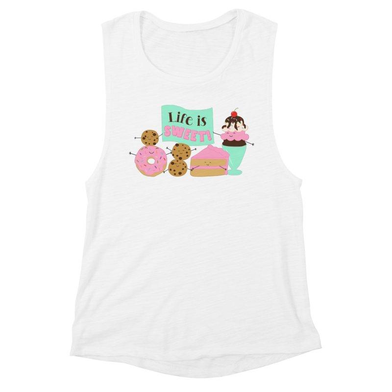 Life is Sweet Women's Muscle Tank by CardyHarHar's Artist Shop
