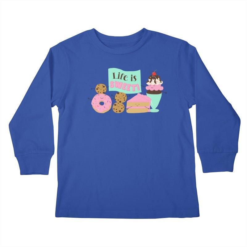 Life is Sweet Kids Longsleeve T-Shirt by CardyHarHar's Artist Shop