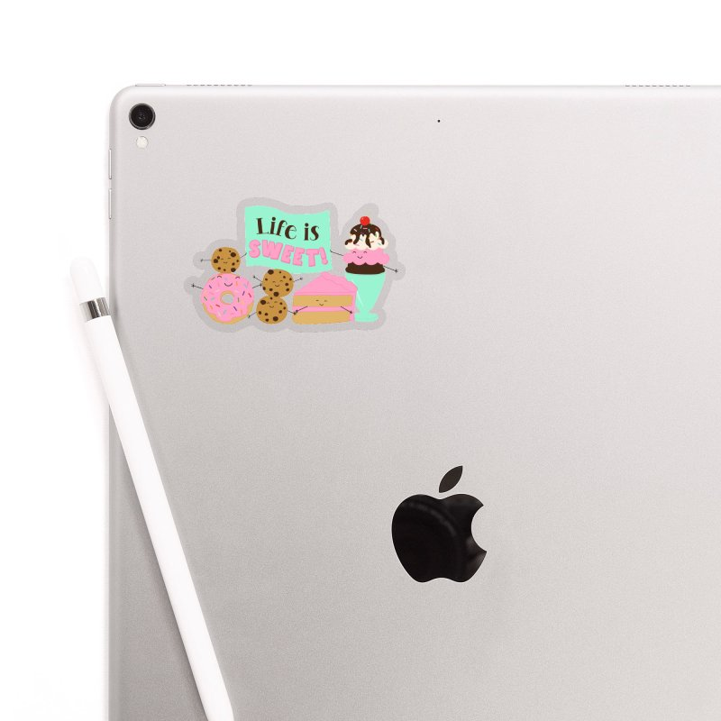 Life is Sweet Accessories Sticker by CardyHarHar's Artist Shop