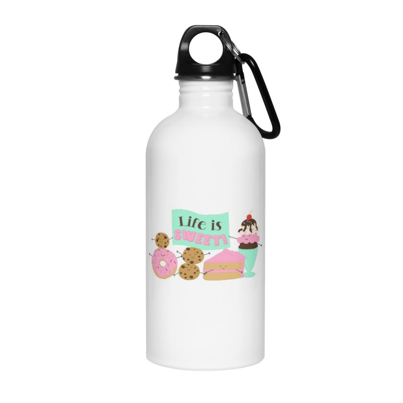 Life is Sweet Accessories Water Bottle by CardyHarHar's Artist Shop
