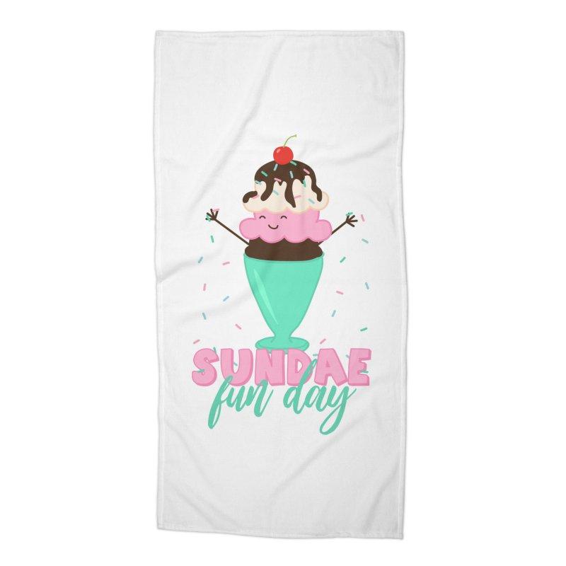 Sundae Fun Day Accessories Beach Towel by CardyHarHar's Artist Shop