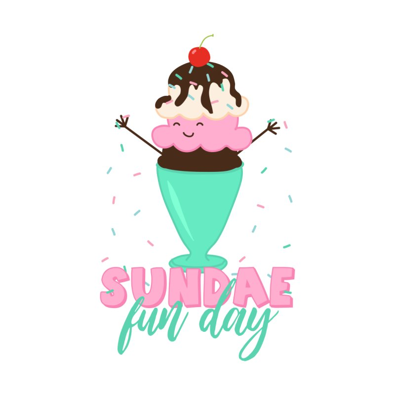 Sundae Fun Day Men's Longsleeve T-Shirt by CardyHarHar's Artist Shop