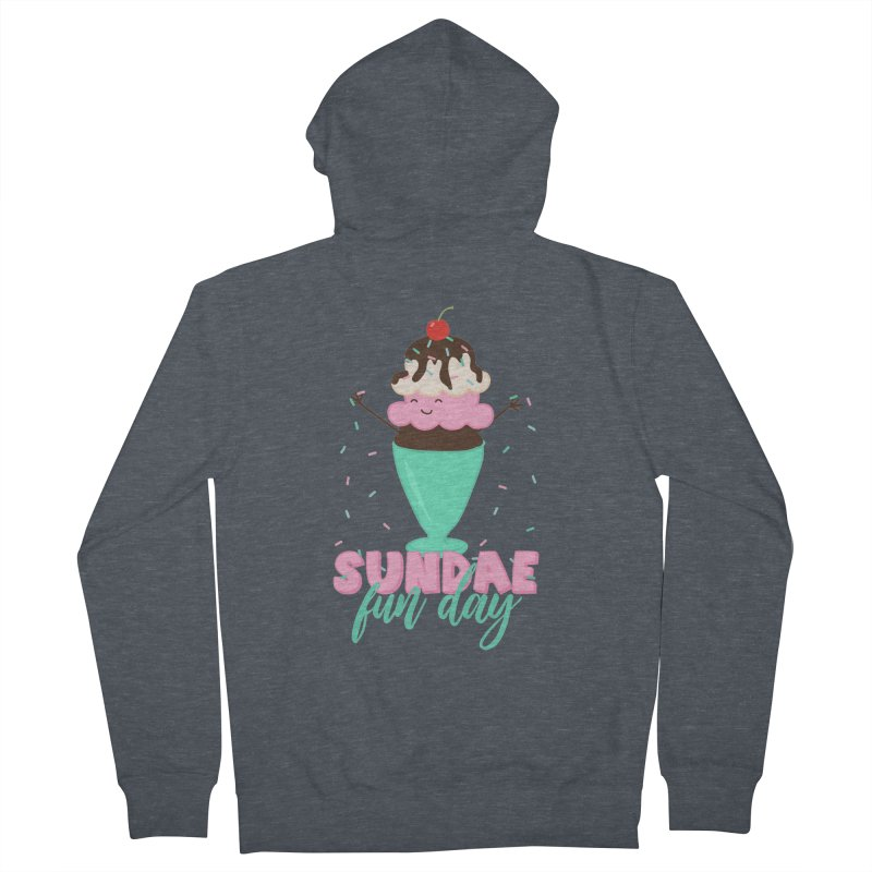Sundae Fun Day Men's French Terry Zip-Up Hoody by CardyHarHar's Artist Shop