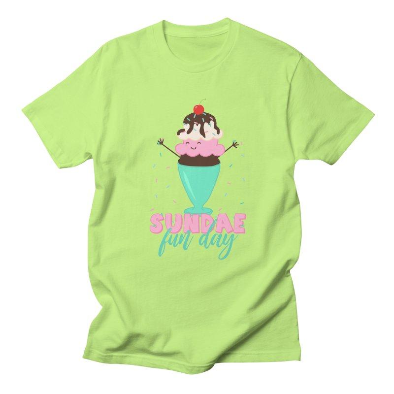 Sundae Fun Day Men's Regular T-Shirt by CardyHarHar's Artist Shop
