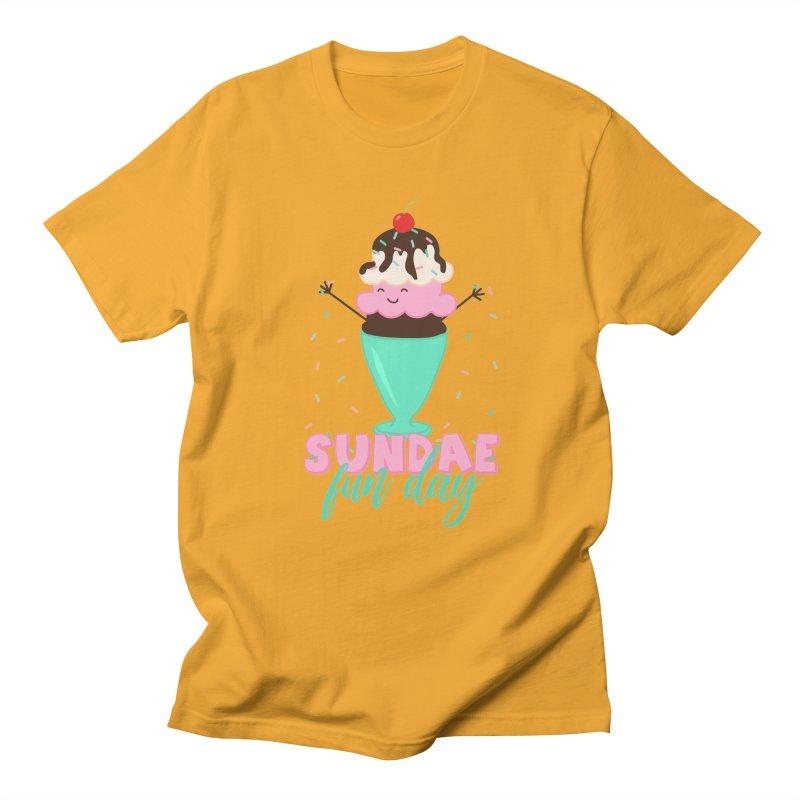 Sundae Fun Day Men's T-Shirt by CardyHarHar's Artist Shop