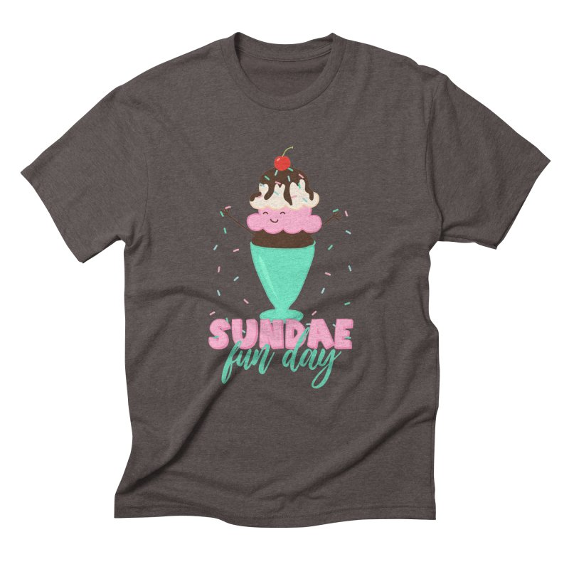 Sundae Fun Day Men's Triblend T-Shirt by CardyHarHar's Artist Shop