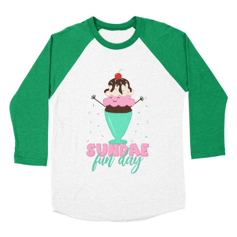 Sundae Fun Day Women's Baseball Triblend Longsleeve T-Shirt by CardyHarHar's Artist Shop
