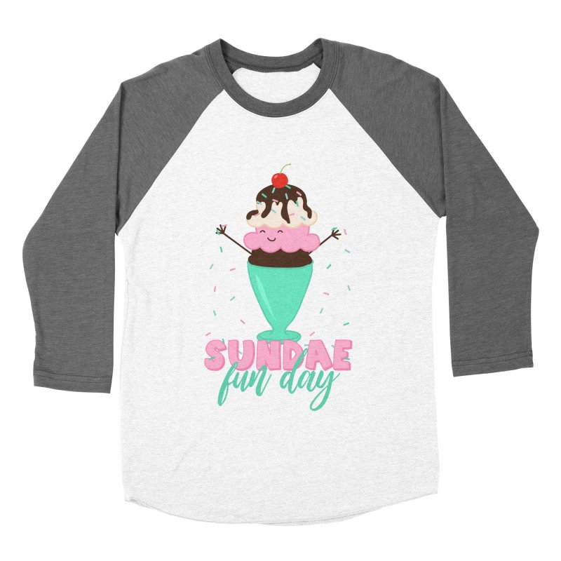 Sundae Fun Day Men's Baseball Triblend Longsleeve T-Shirt by CardyHarHar's Artist Shop