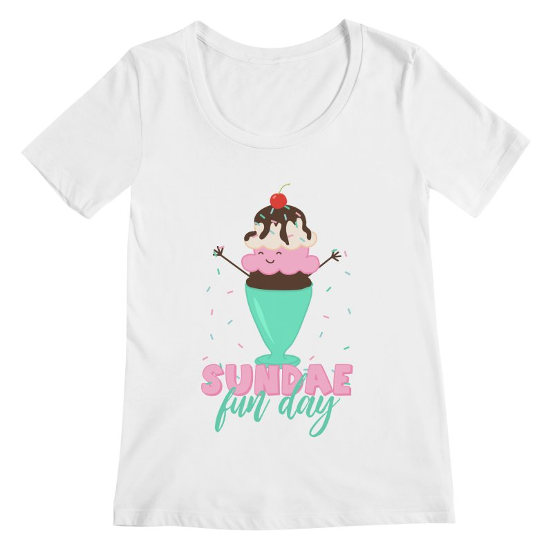 Sundae Fun Day Women's Scoop Neck by CardyHarHar's Artist Shop