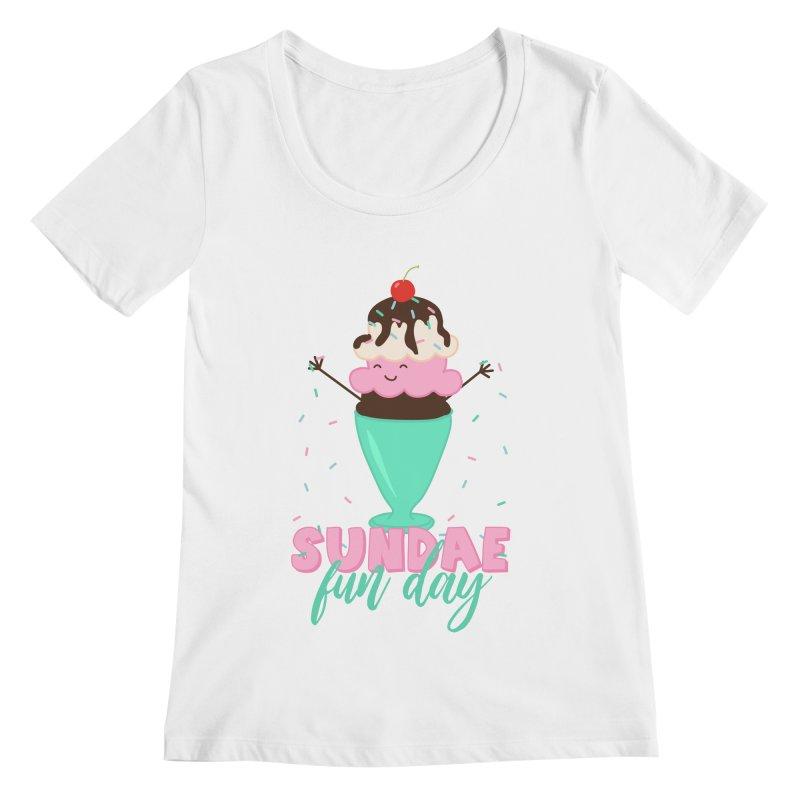 Sundae Fun Day Women's Regular Scoop Neck by CardyHarHar's Artist Shop