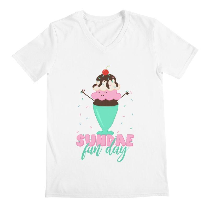 Sundae Fun Day Men's Regular V-Neck by CardyHarHar's Artist Shop