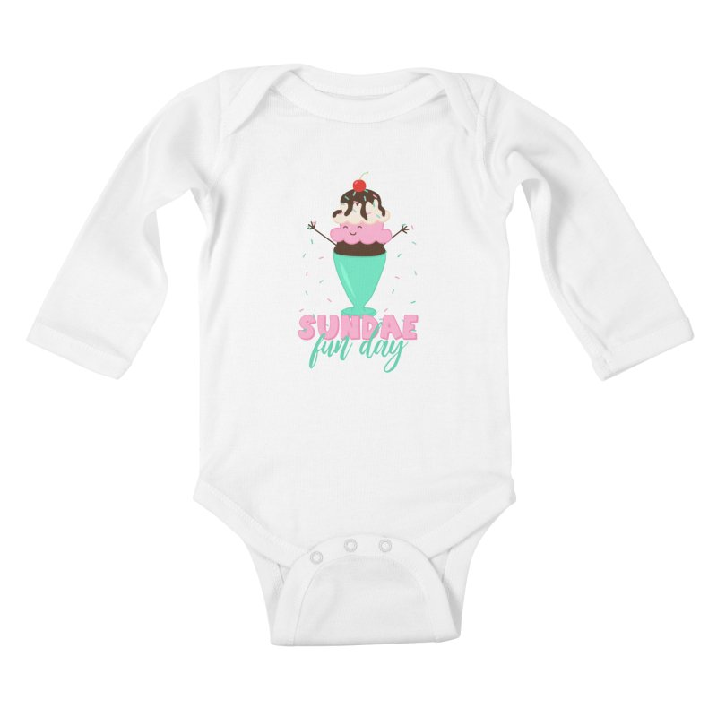 Sundae Fun Day Kids Baby Longsleeve Bodysuit by CardyHarHar's Artist Shop