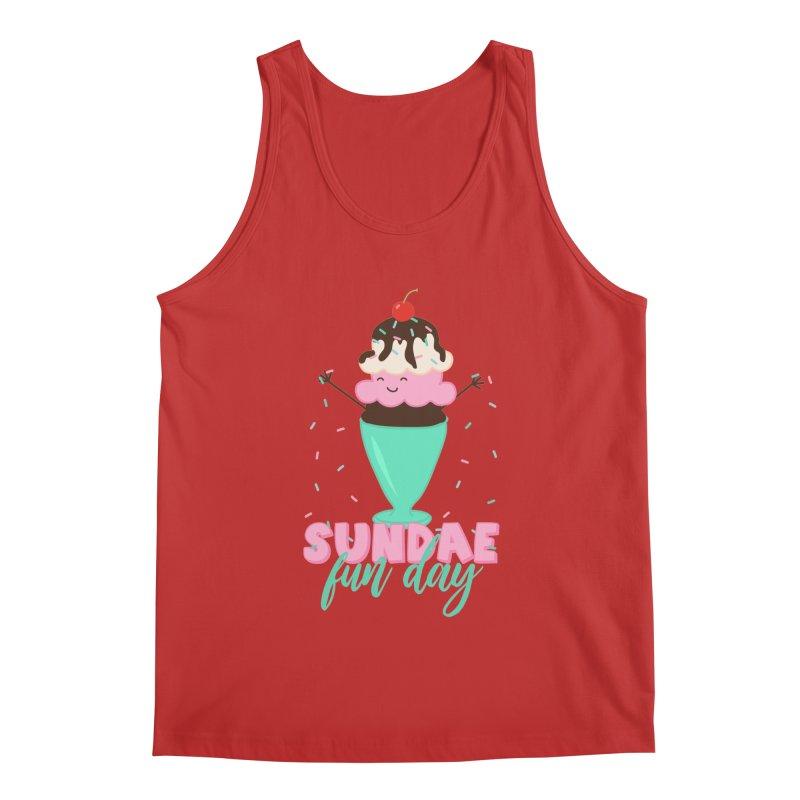 Sundae Fun Day Men's Tank by CardyHarHar's Artist Shop