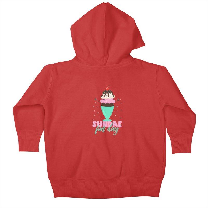 Sundae Fun Day Kids Baby Zip-Up Hoody by CardyHarHar's Artist Shop