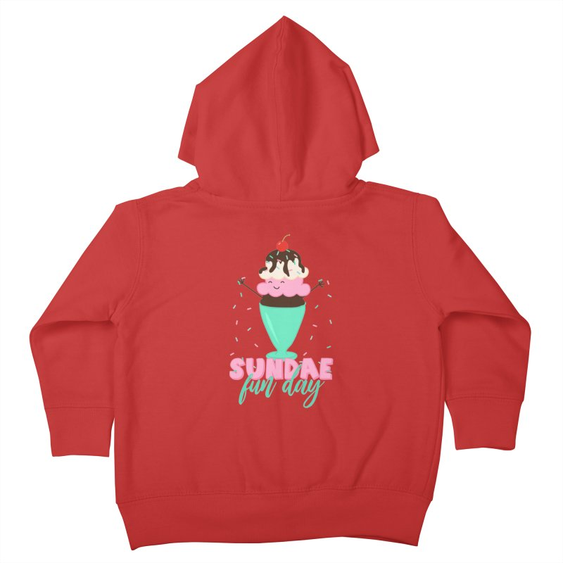 Sundae Fun Day Kids Toddler Zip-Up Hoody by CardyHarHar's Artist Shop
