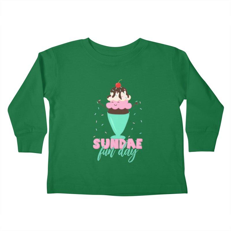 Sundae Fun Day Kids Toddler Longsleeve T-Shirt by CardyHarHar's Artist Shop