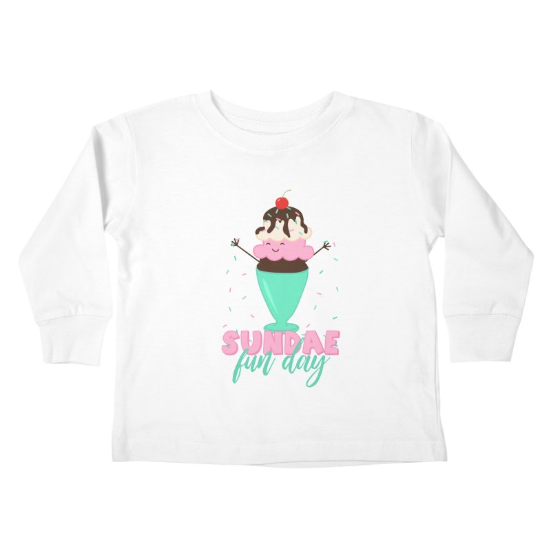Sundae Fun Day Kids Toddler Longsleeve T-Shirt by CardyHarHar's Artist Shop