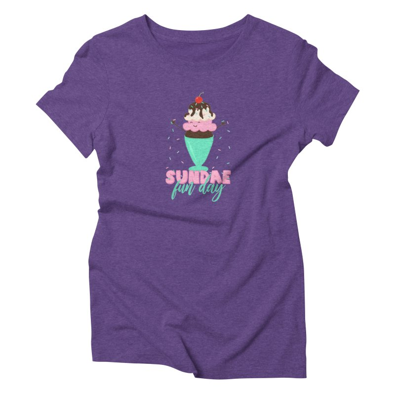 Sundae Fun Day Women's T-Shirt by CardyHarHar's Artist Shop