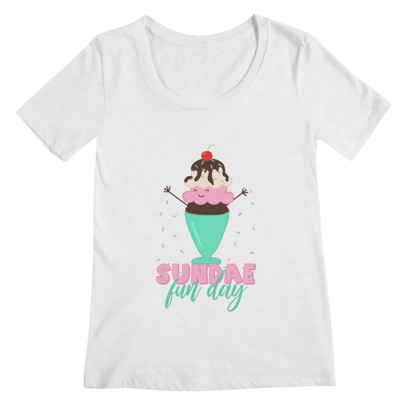 Sundae Fun Day Women's Regular Scoop Neck by CardyHarHar's Artist Shop