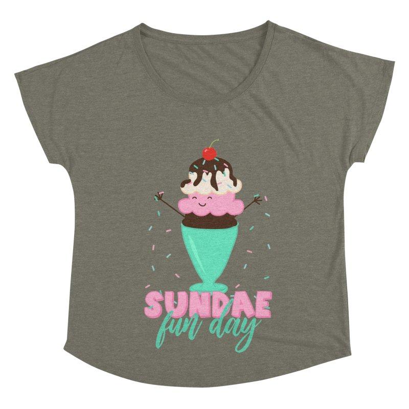 Sundae Fun Day Women's Dolman Scoop Neck by CardyHarHar's Artist Shop